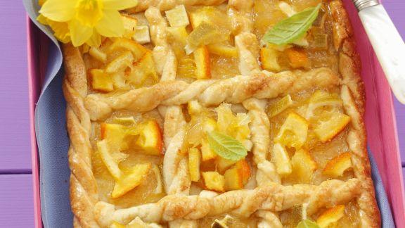 Rezept: Blechkuchen mit Zitrusfrüchten auf polnische Art (Mazurek)