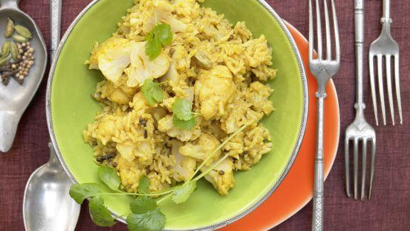 Rezept: Blumenkohl-Reis-Pilaw