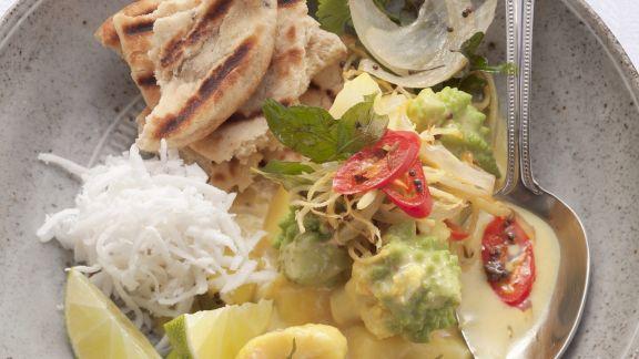 Rezept: Blumenkohl-Romanesco-Curry mit Kartoffeln