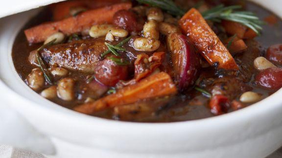 Rezept: Bohnen-Eintopf mit Würstchen