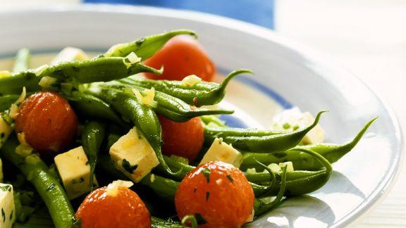 Rezept: Bohnen-Tomaten-Pfanne mit Fetakäse