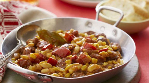 Rezept: Bohnenpfanne auf mexikanische Art