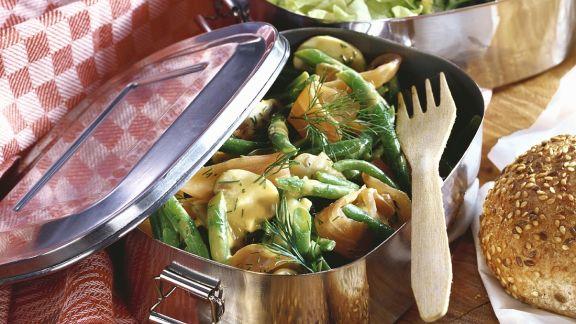 Rezept: Bohnensalat mit Lachs
