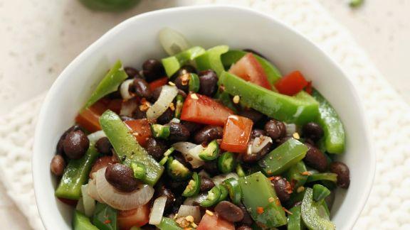 Rezept: Bohnensalat mit Paprika