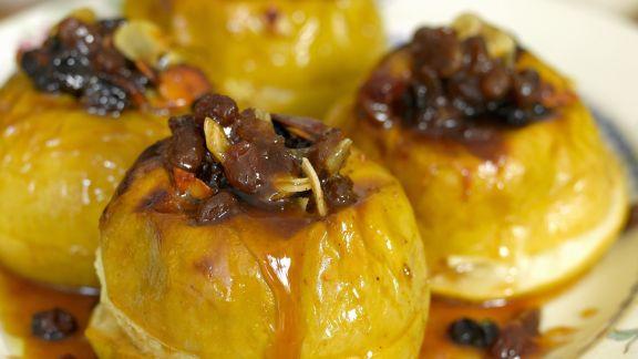 Rezept: Bratäpfel mit Rosinen und Honig
