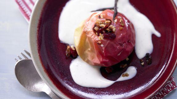 Rezept: Bratäpfel auf Vanillesauce – smarter