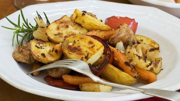 Rezept: Bratkartoffeln mit Gemüse