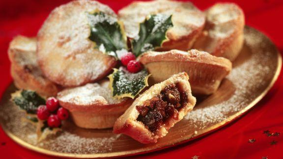 Rezept: Britische Weihnachtsküchlein mit Trockenobst (Mince Pies)