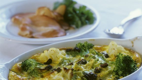Rezept: Brokkoli-Blumenkohl-Gratin