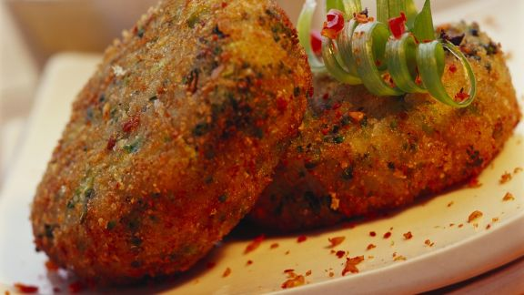 Rezept: Brokkoli-Käse-Frikadellen auf indische Art