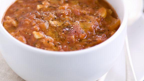 Rezept: Brotsuppe mit Tomaten