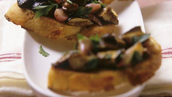 Rezept: Bruschetta mit Maronenpilzen