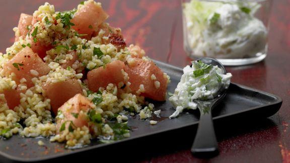 bulgur melonen salat rezept eat smarter. Black Bedroom Furniture Sets. Home Design Ideas