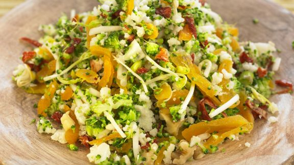 Rezept: Bulgur mit Soja, Brokkoli und Blumenkohl