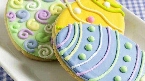Rezept: Bunte Ostereier-Kekse