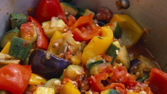 Rezept: Bunter Gemüsetopf (Ratatouille)