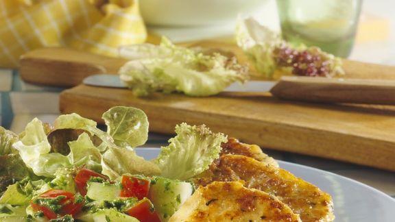Rezept: Bunter Salat mit Bulgurtalern