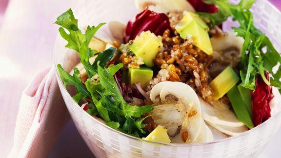 Rezept: Bunter Salat mit Hafer