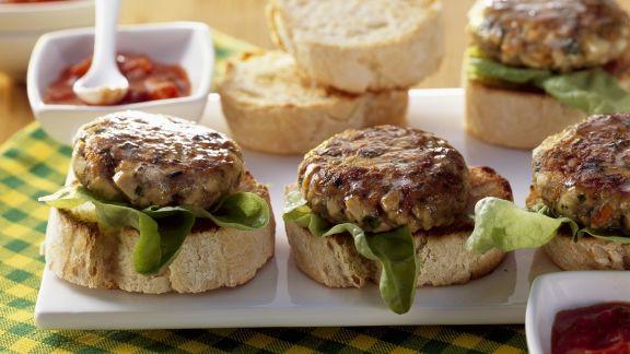 Rezept: Burger aus Rindfleisch und Tofu
