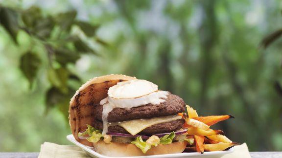 Rezept: Burger mit Ziegenkäse