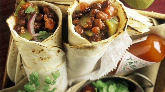 Rezept: Burritos mit Bohnenfüllung