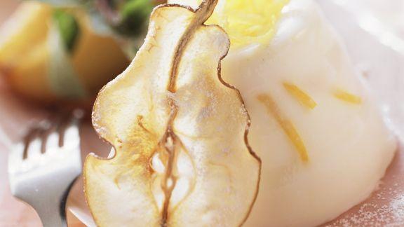 Rezept: Buttermilchgelee mit Birne