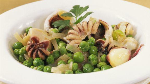 Rezept: Calamari-Erbsen-Salat