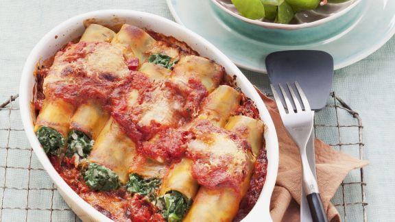 Rezept: Cannelloni gefüllt mit Spinat und Ricotta
