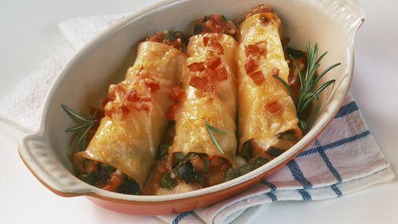Rezept: Cannelloni mit Auberginen und Kapern