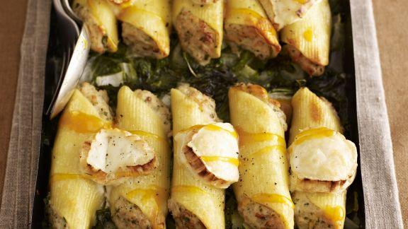 Rezept: Cannelloni mit Grünkohlgemüse