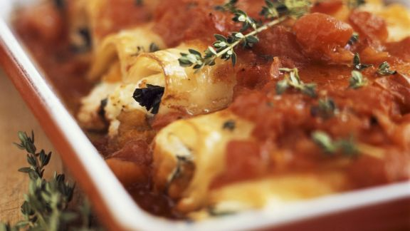 Rezept: Cannelloni mit Tomatensugo