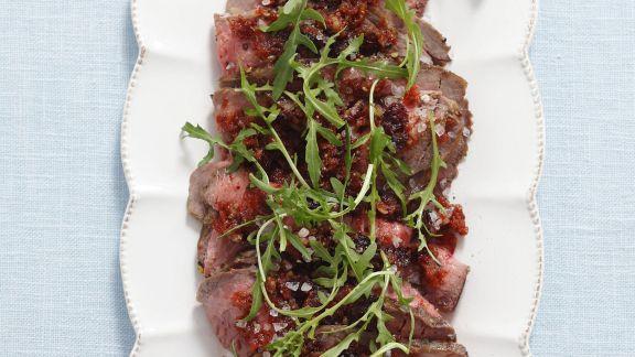 Rezept: Carpaccio aus Roastbeef