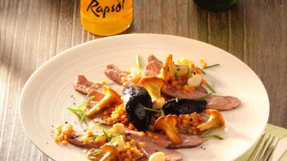 Rezept: Carpaccio von der geräucherten Gänsebrust