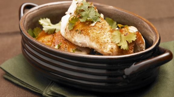 Rezept: Catfish mit Koriander auf Cajun-Art