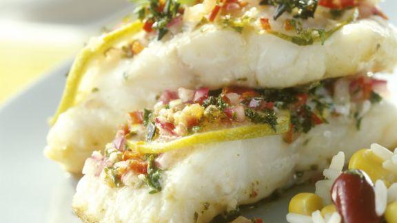 Rezept: Catfish mit Marinade und Bohnenreis