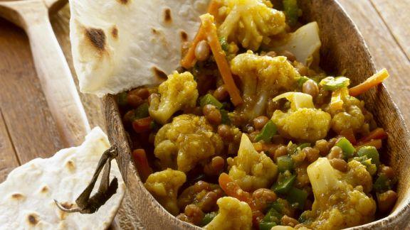 Rezept: Chakalaka-Salat aus Südafrika mit Fladenbrot