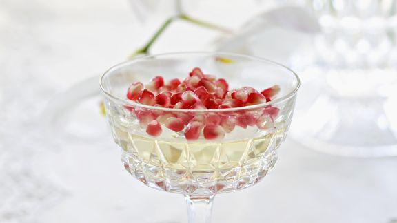 Rezept: Champagnergelee mit Granatapfel
