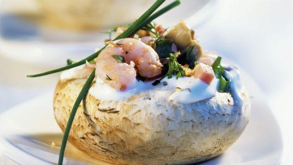 Rezept: Champignons mit Krabbenfüllung