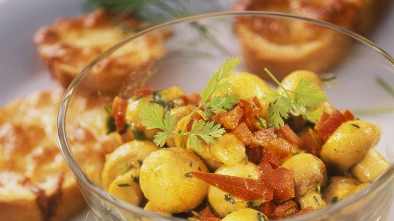 Rezept: Champignonsalat mit Paprika