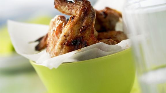 Rezept: Chicken Wings mit Barbecuemarinade