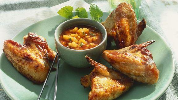 Rezept: Chicken Wings mit Mangosauce