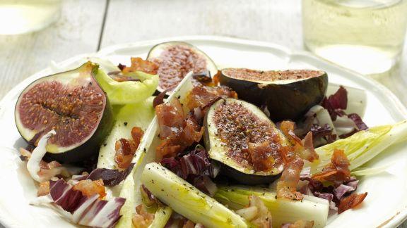 Rezept: Chicorée mit gegrillten Honig-Feigen und Pancetta