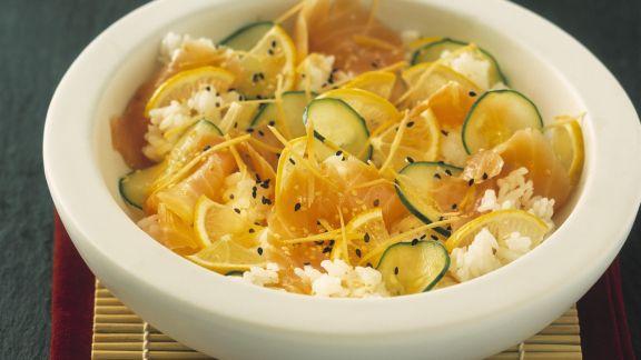 Rezept: Chirashi-Sushi mit Wildlachs