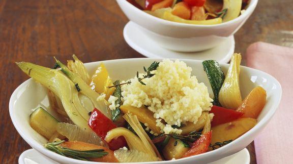 Rezept: Couscous mit buntem Gemüse