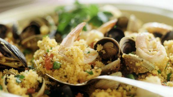 Rezept: Couscous mit Muscheln