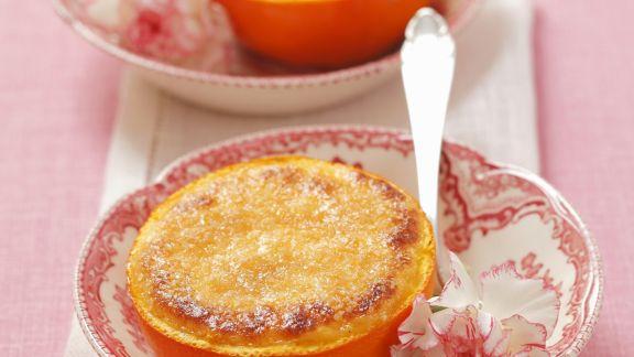 Rezept: Creme brulee in der Orange