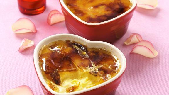 Rezept: Creme brulee mit Maracuja