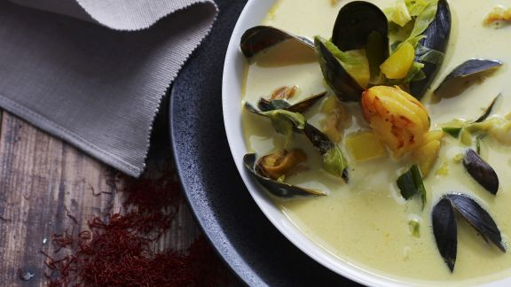 Rezept: Cremesuppe mit Muscheln