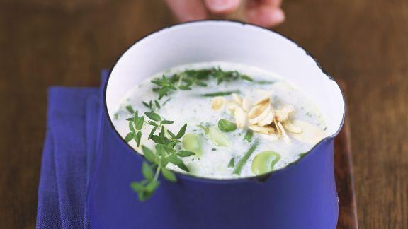 Rezept: Cremige Bohnensuppe