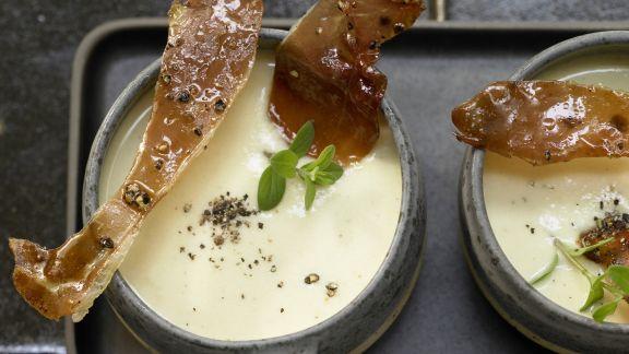 Rezept: Cremige Pastinaken-Kartoffel-Suppe